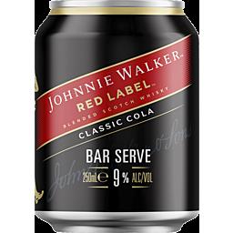 Johnnie Walker & Cola 9% Can 250ml-24