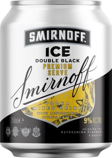 Smirnoff D/black 9% Can 250ml-24
