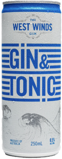 West Winds Gin & Tonic Can 250ml-24