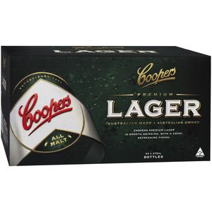 Coopers Premium Lager 355ml-24