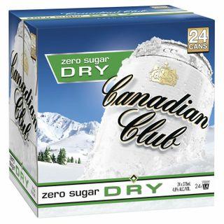 Canadian Club & Dry ZERO Can 375ml CUBE