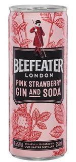 Beefeater Pink Gin & Soda Can 250ml-24