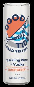 Good Tides Hard Seltzer Rasp 330ml-24