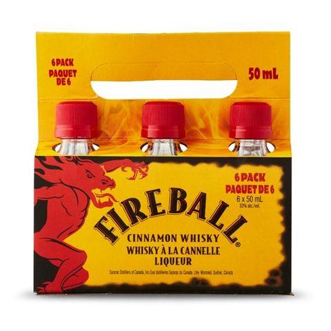 Fireball 50ml 6 Pack Carrier x5