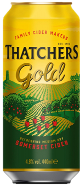 Thatchers Gold Apple Cider Can 440ml-24