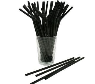Black Flexible Wrapped Straws-2500