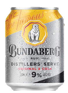 Bundaberg & Cola 9% Can 250ml-24