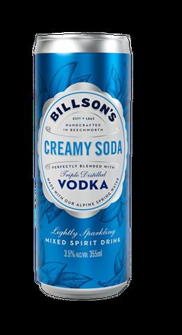 Billsons Vodka & Creamy Soda 355ml-24