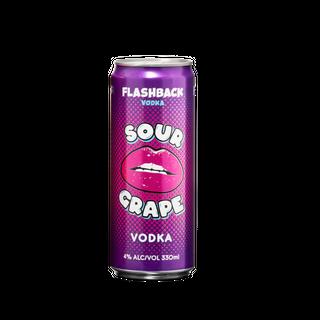 Flashback Vodka Sour Grape Can 330ml-24