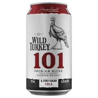 Wild Turkey 101 ZERO Can 6x4 375ml-24