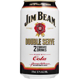 Jim Beam White Dbl Serve Can 375ml-24