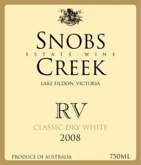 Snobs Creek RV Classic Dry White 750ml