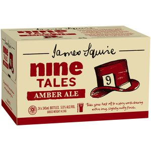 James Squire Nine T Amber Ale 345ml-24
