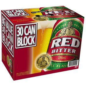 Tooheys Red Can 375ml BLOCK-30