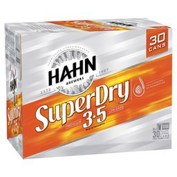 Hahn Super Dry Cans 3.5% BLOCK-30