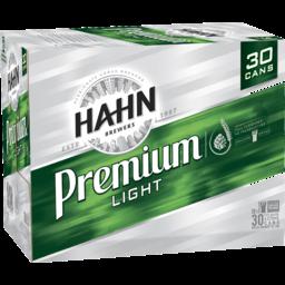 Hahn Prem Light Cans 375ml BLOCK-30