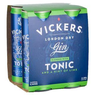 Vickers Gin & Tonic 250ml-24
