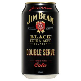 Jim Beam Black Can Dbl Serve 375ml-24