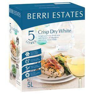 Berri Crisp Dry White Cask 5L