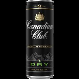 Canadian Club & Dry 9% Can 250ml-24