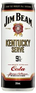 Jim Beam Kentucky Serve 9% Can 250ml-24