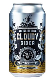 Young Henrys Cloudy Cider 375ml Can-24