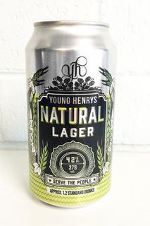 Young Henrys Natural Lager Cans 375ml-24