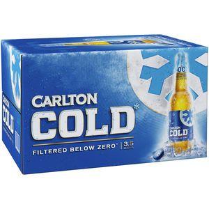 Carlton COLD 3.5% Stubbs 355ml-24