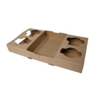 CARDBOARD CARRIER TRAY (4 CUP)BOX of 100