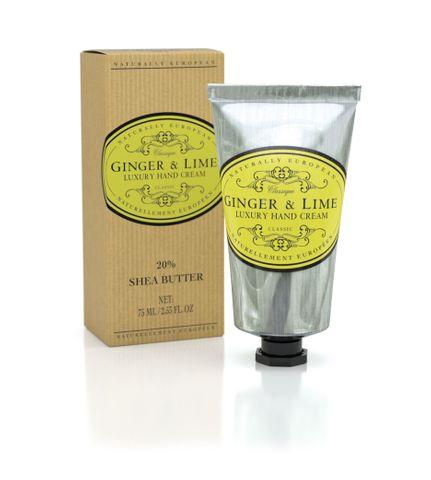 Nat Euro Hand Cream Ginger & Lime 75ml