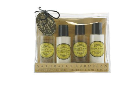 Nat Euro Travel Set Ginger & Lime 4 x 50ml