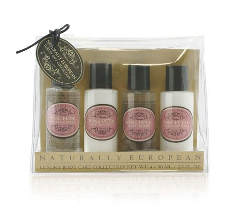 Nat Euro Travel Set Rose Petal 4 x 50ml