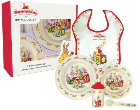 Bunnykins 5pc Set - ABC Design Red