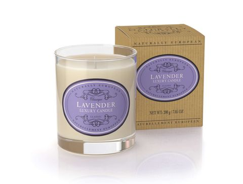 Naturally European Candle Lavender 200g