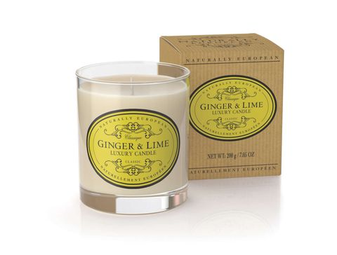 Nat Euro Candle Ginger & Lime 200g