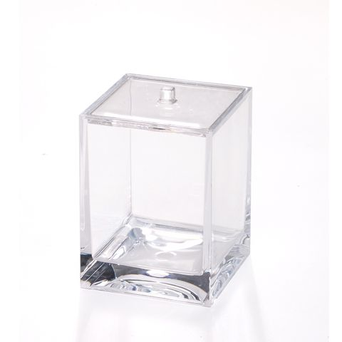Creative Home Cotton Holder Cube Clear