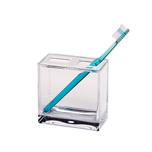Creative Home Toothbrush Holder Cube Clear