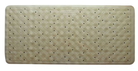 Rubber Bath Mat Beige