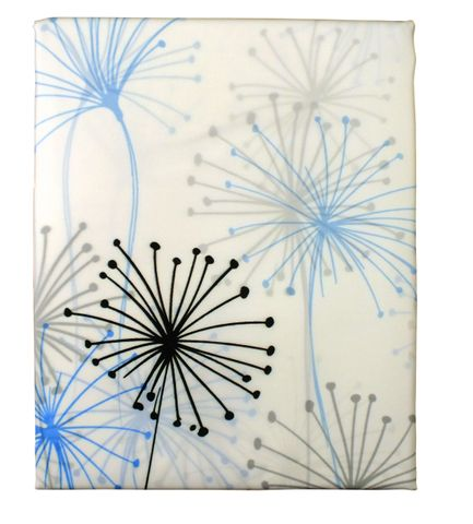 Printed Poly Shower Curtain Dandelion
