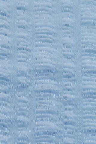 Seersucker Poly Shower Curtain Bluebell