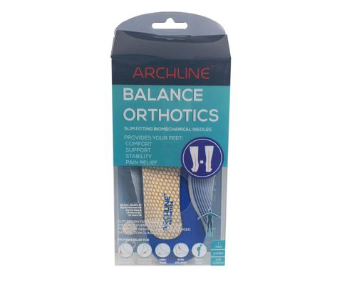 Orthotic Insoles Balance Slim Line 43