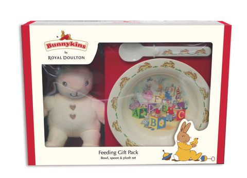 Bunnykins Feeding Gift Pack Plush Toy, Bowl & Spoon Cream