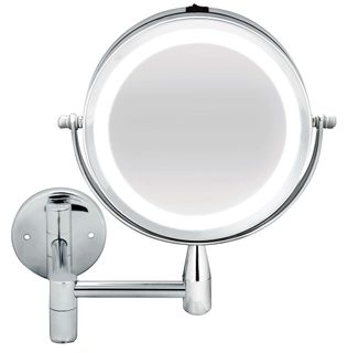 BodySense Extendable Wall Mirror Led Lighted 2 x Magnification