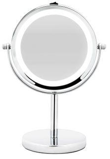 BodySense Pedestal Chrome Mirror Led Lighted 5x Magnification