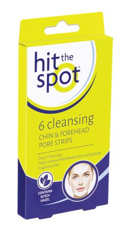 Hit the Spot Cleansing Chin & Forehead Pore Strips 6pc
