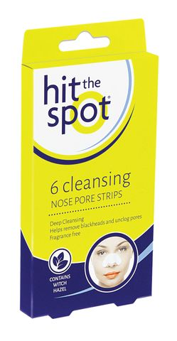 Hit The Spot Cleansing Nose Pore Strips 6pc