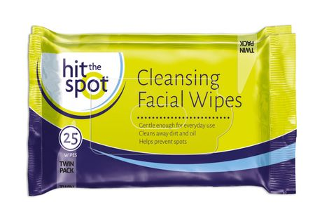 Hit the Spot Cleansing Facial Wipes Twin Pack (2x25)