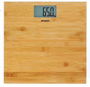 Propert Bamboo Digital Bathroom Scale Teak 150kg