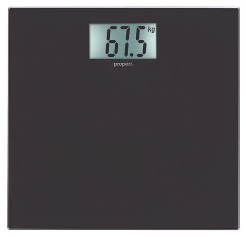 Propert Glass Digital Bath Scale Black 150kg