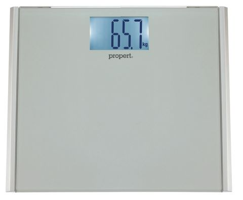 Propert Nova Glass Digital Bath Scale Silver 180kg